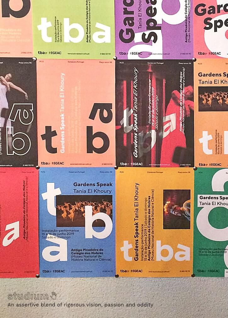 Teatro do Bairro Alto . graphic identity